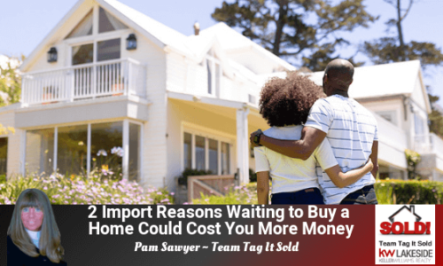 Home Buyers looking at a home and thinking about waiting to buy